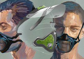 Reebok показала маски для спорту. Вони повністю покривають голову і містять мох для очищення повітря