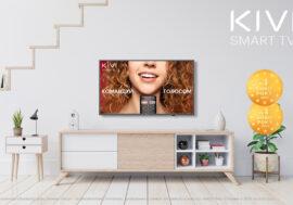 """Телевізори KIVI вдруге поcпіль отримали золоту медаль """"Вибір року"""" в Україні в номінації «Телевізор року економ-класу»"""