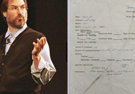 Заявка на роботу Стіва Джобса, заповнена в 1973 році, продається на аукціоні за 175 000 доларів