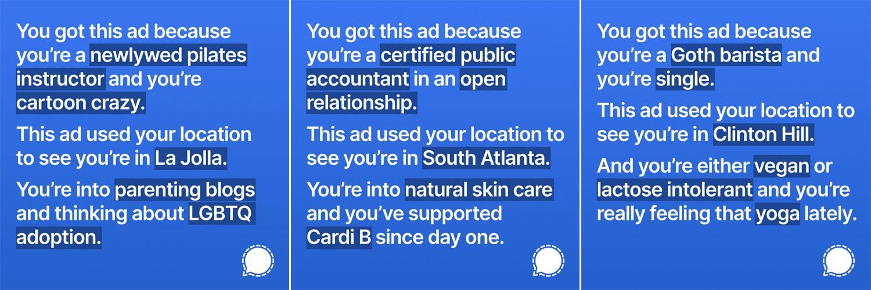 Signal показав у своїй рекламі, яку інформацію про користувачів збирають мережі. Facebook його забанив - social-media, news, online-marketing