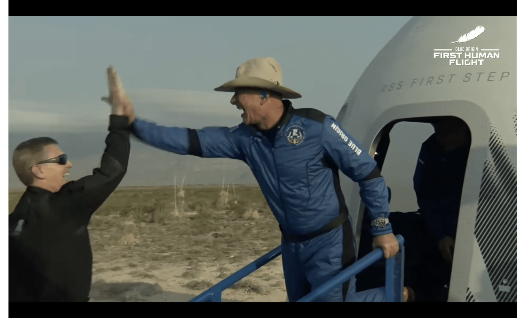 Джефф Безос зробив суборбітальний політ на кораблі New Shepard - news, people, robots-space